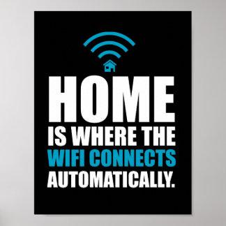 Poster La maison est où le Wi-Fi se relie automatiquement