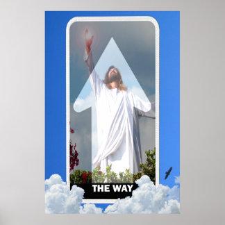 Poster La manière ! Jésus-Christ la manière ony à