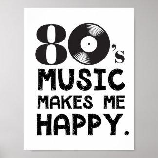 Poster la musique 80S me rendent heureux