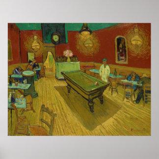 Poster La nuit Café par Vincent van Gogh (1888)