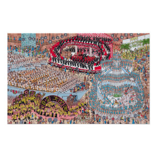 Poster Là où est la chanson et la danse énormes de Waldo