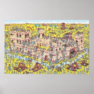 Poster Là où est l'attaque de chevalier de Waldo |