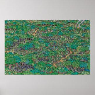 Poster Là où est les forestiers le combat de Waldo |