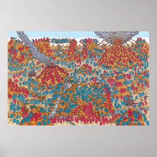 Poster Là où est les moines la lutte de Waldo |