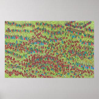 Poster Là où est les nains rouges féroces de Waldo |