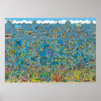 Poster Là où est les plongeurs de mer profonde de Waldo