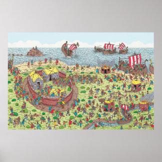 Poster Là où est Waldo | en tournée avec les Vikings
