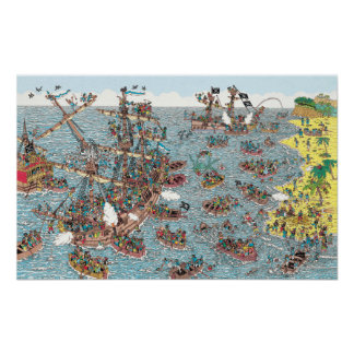 Poster Là où est Waldo | étant un pirate