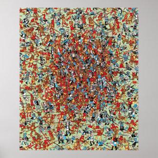 Poster Là où est Waldo | quel combat de chien
