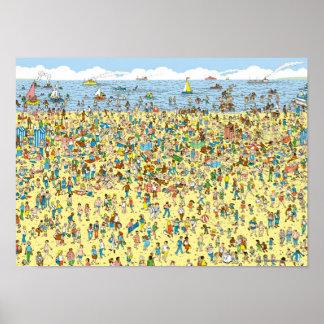 Poster Là où est Waldo sur la plage