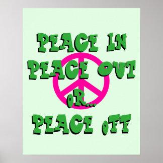 Poster La paix dedans, ou outre de l'affiche
