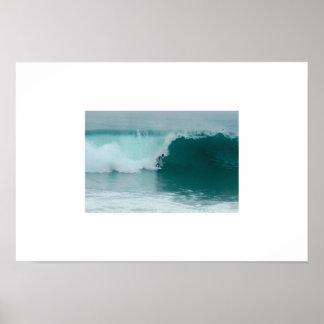 Poster La plage la Californie de Newport de cale