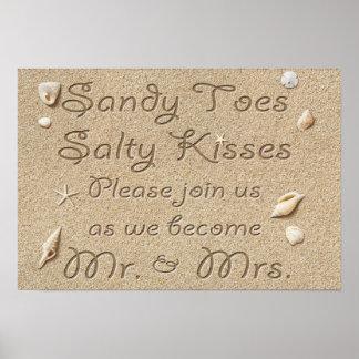 La plage Sandy botte des baisers salés M. et Mme