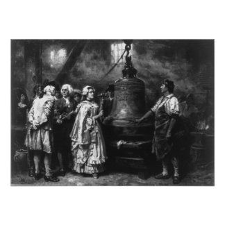 Poster La première note de Liberty Bell par Jean Léon