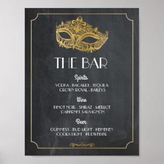 Poster La réception de mariage de signe d'affiche de