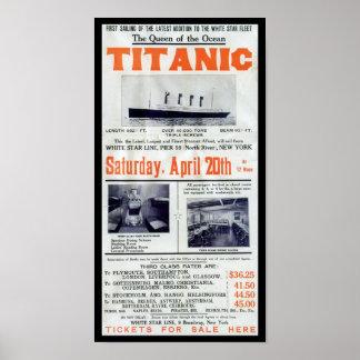 Poster La Reine titanique de l'océan - ligne blanche