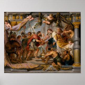 Poster La réunion d'Abraham et d'art de Melchizedek