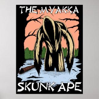 Poster La singe de mouffette de Myakka