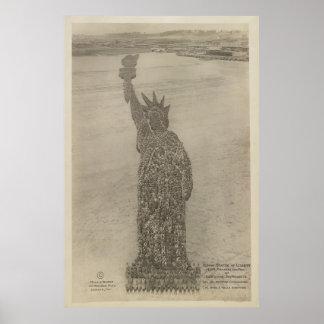 Poster La statue de la liberté humaine à la copie de