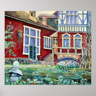 Poster La Suède, paysage traditionnel