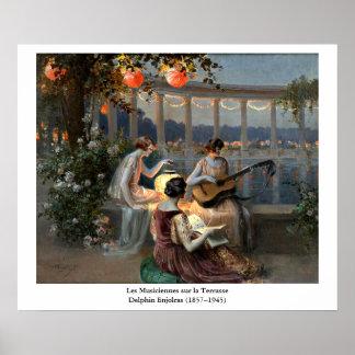 Poster La Terrasse de sur de Les Musiciennes de Delphin
