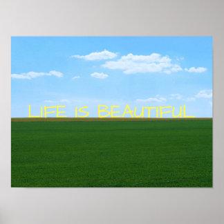 """Poster La """"vie est beau"""" paysage"""