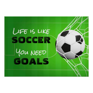 Poster La vie est comme le football
