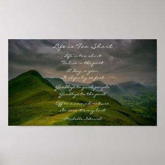 Poster La vie est poème trop court de montagne de Rolling