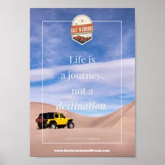 Poster La vie est un voyage - affiche