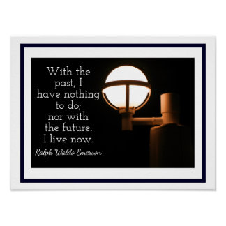 Poster La vie maintenant - copie d'art - Ralph Waldo