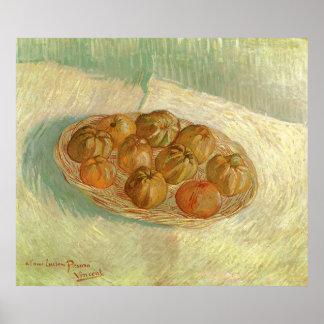Poster La vie toujours, panier des pommes par Vincent van