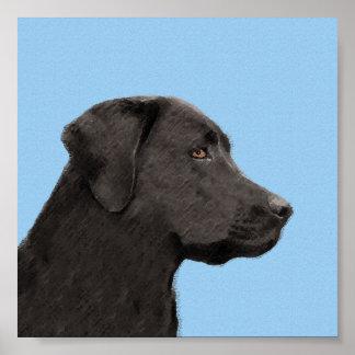 Poster Labrador retriever (noir)