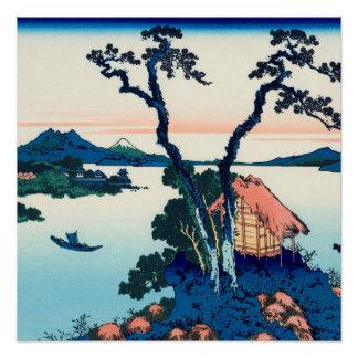 Poster Lac Suwa dans la province de Shinano