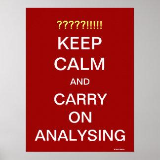 Poster L'affiche de citation d'analyste drôle continuent