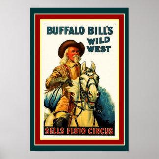 Poster L'affiche occidentale sauvage 13 x 19 de Buffalo