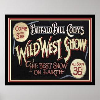 Poster L'affiche occidentale sauvage 16 x 20 de Buffalo