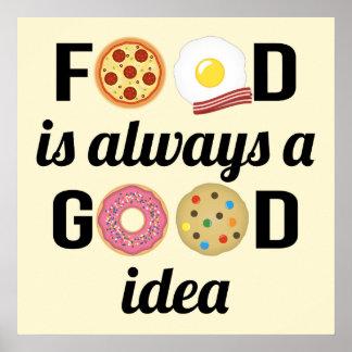 Poster L'amant de nourriture