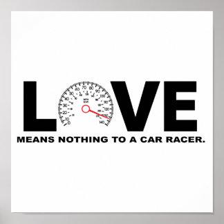 Poster L'amour ne signifie rien à un coureur 2 de voiture