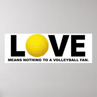 Poster L'amour ne signifie rien à une fan 2 de volleyball