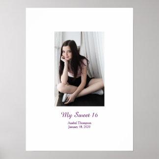 Poster L'anniversaire du bonbon 16 signent dedans le