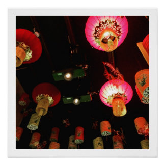 Poster Lanternes chinoises