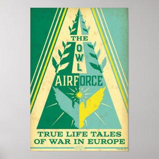 Poster L'Armée de l'Air de hibou