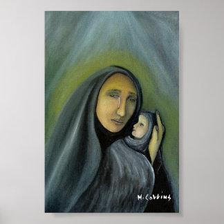 Poster Larmes surréalistes de peinture à l'huile de joie