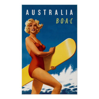 Poster L'Australie - BOAC
