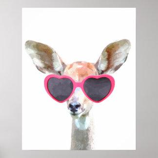 Poster Le bébé animal adorable mignon d'antilope badine