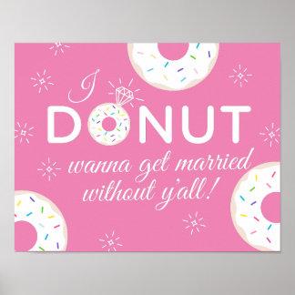 Poster Le beignet veulent se marier sans vous l'affiche