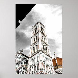 Poster Le campanile de Giotto (tour de Bell) Florence