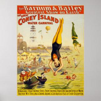 Poster Le carnaval de l'eau de Coney Island (2)