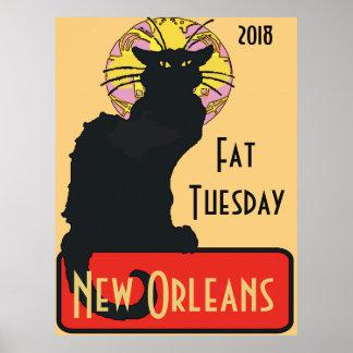 Poster Le chat noir, gros mardi, éditent le texte