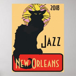 Poster Le chat noir, jazz, éditent le texte